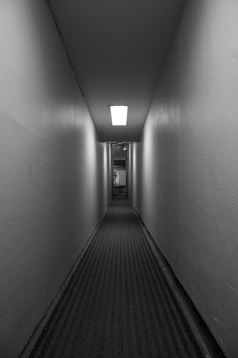 20160316. Claustrophobic Corridor to the Concourse at Toronto's