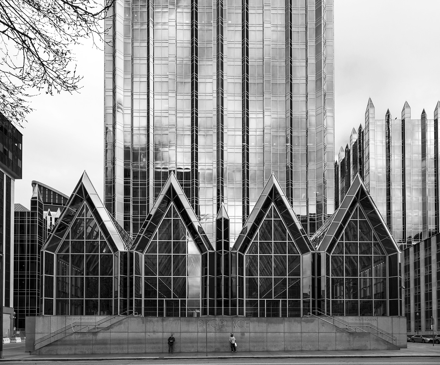 20160329. Pittsburgh's Postmodern glass Gothic PPG Place.