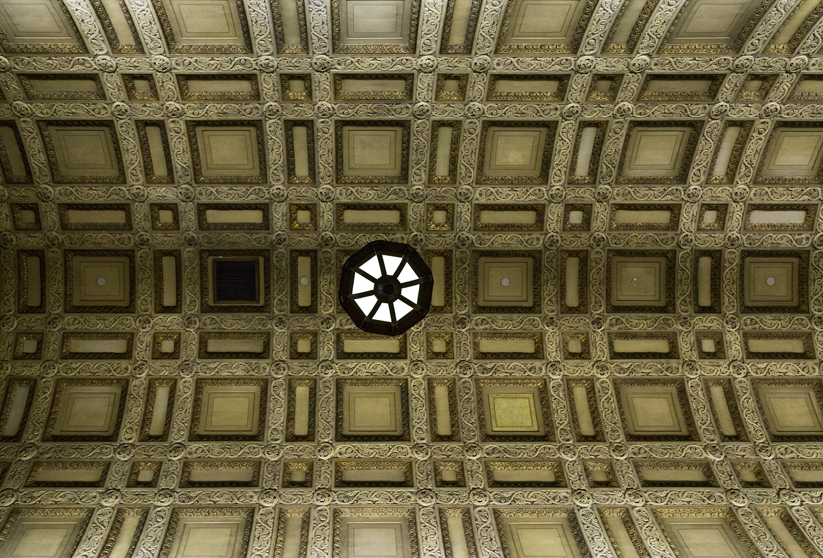 20160529. Commerce Court North corridor ceiling. Doors Open Toro