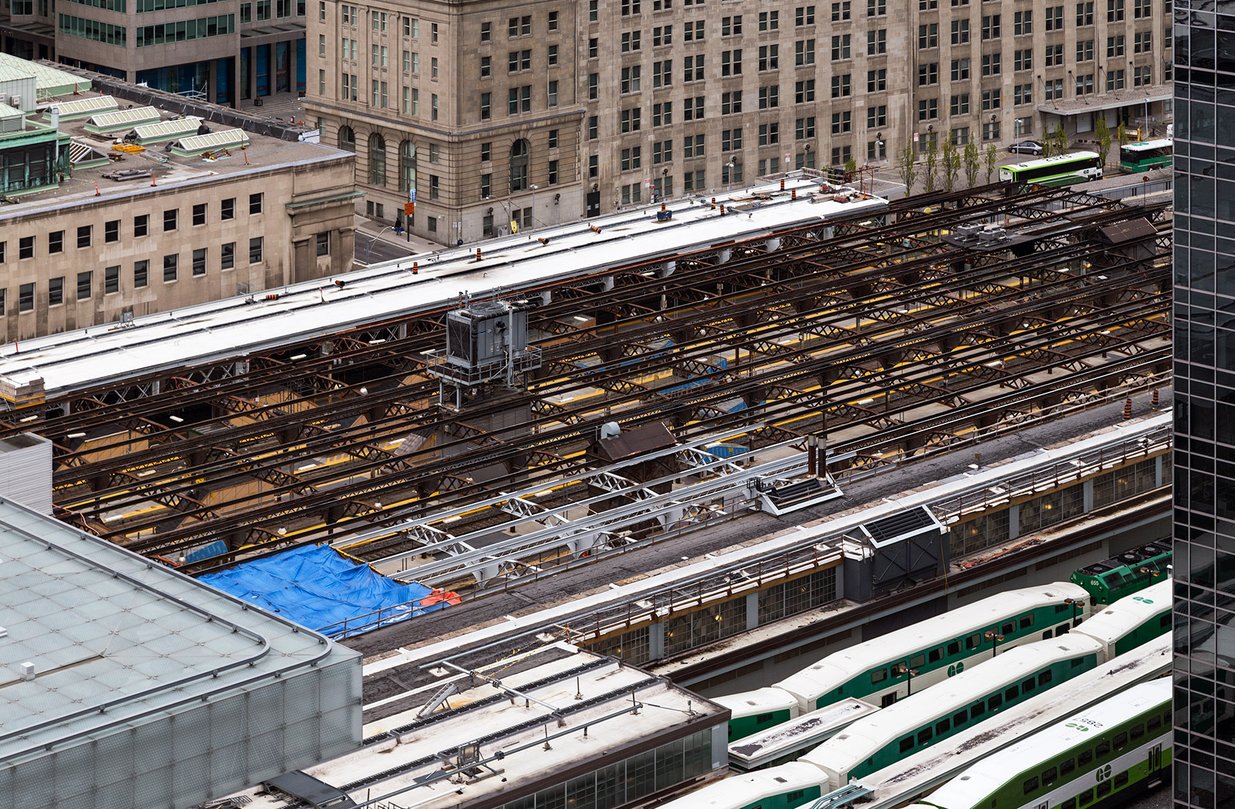 20160622. An aerial view of Toronto Union Station's historic exp