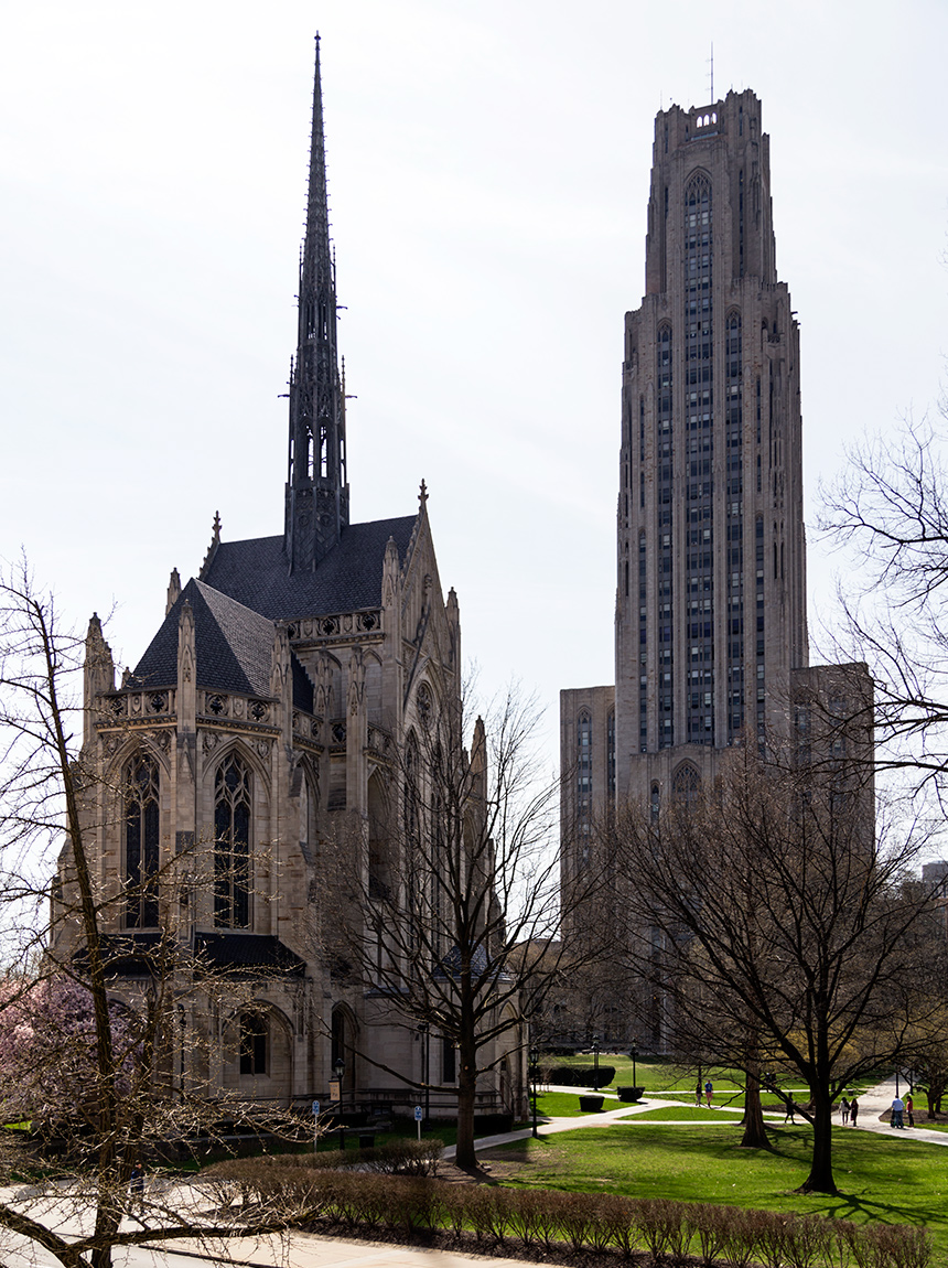 20160704. The Cathedral of Learning and the Heinz Memorial Chape