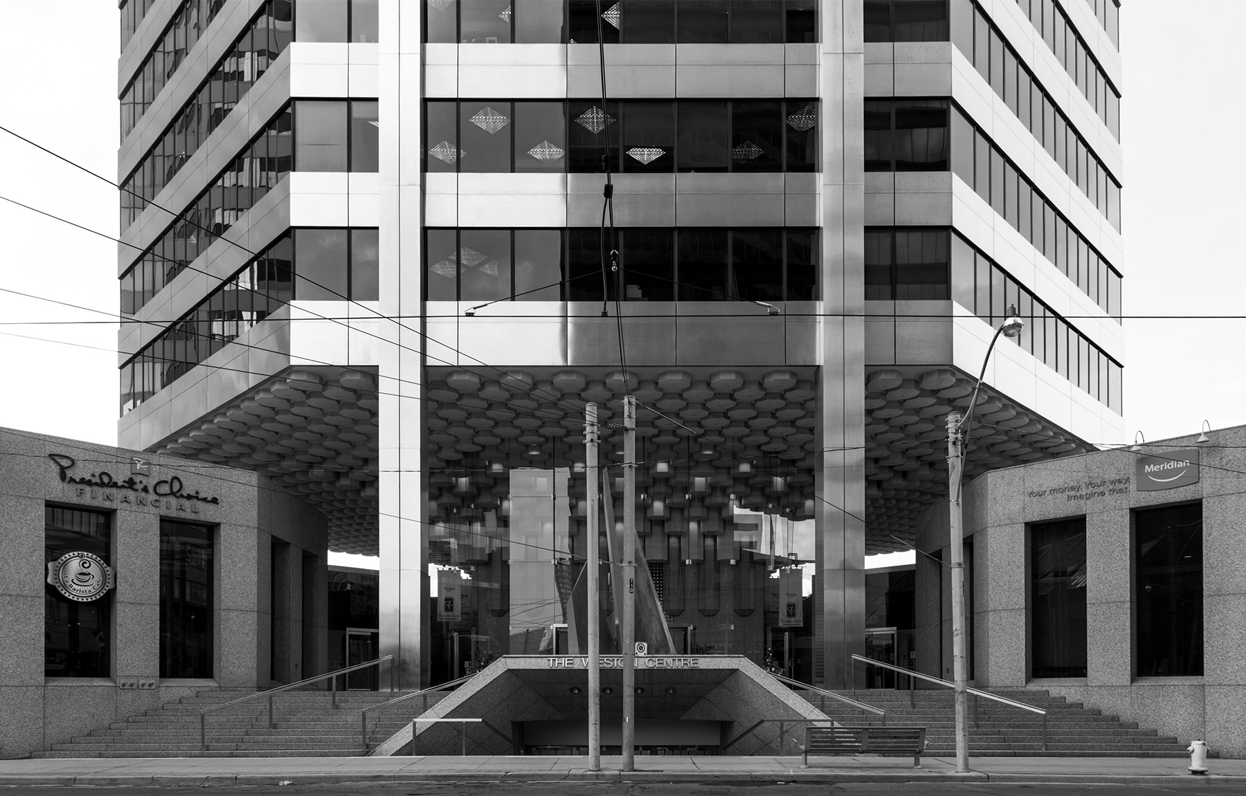 20160707. Toronto's octagonal, stainless-steel clad and still cu