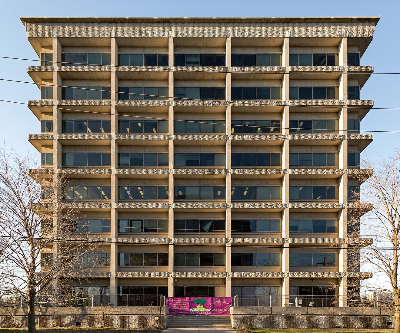20160726. 1972 rough-hewn concrete modernism. 240 Duncan Mill Rd