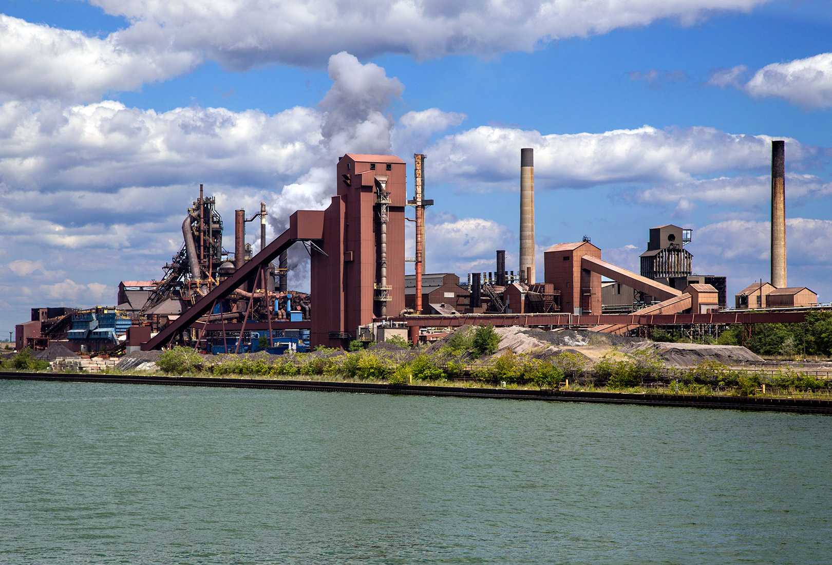 20160808. U.S. Steel sits quietly in Hamilton Harbour.