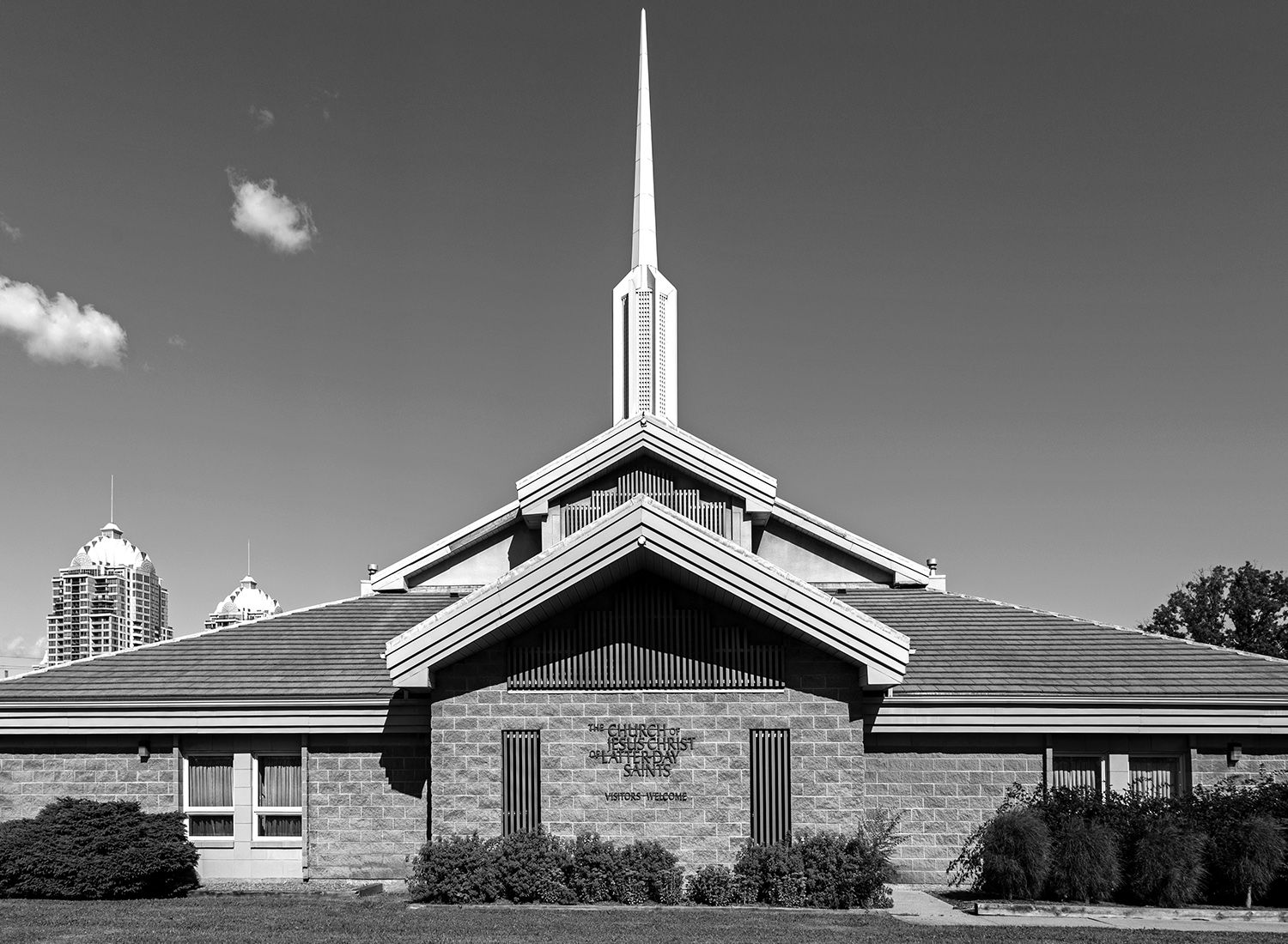 20160915. The futuristic ranch-style church of the Latter Day Sa