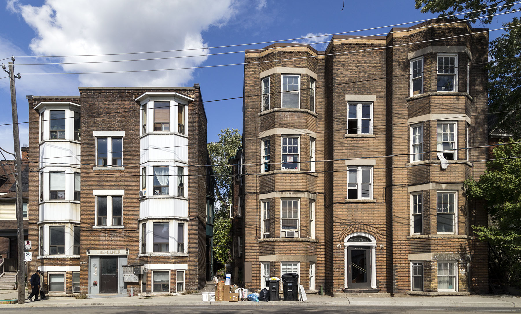20161003. Two 91 year old Parkdale walk-up apartments facing sou
