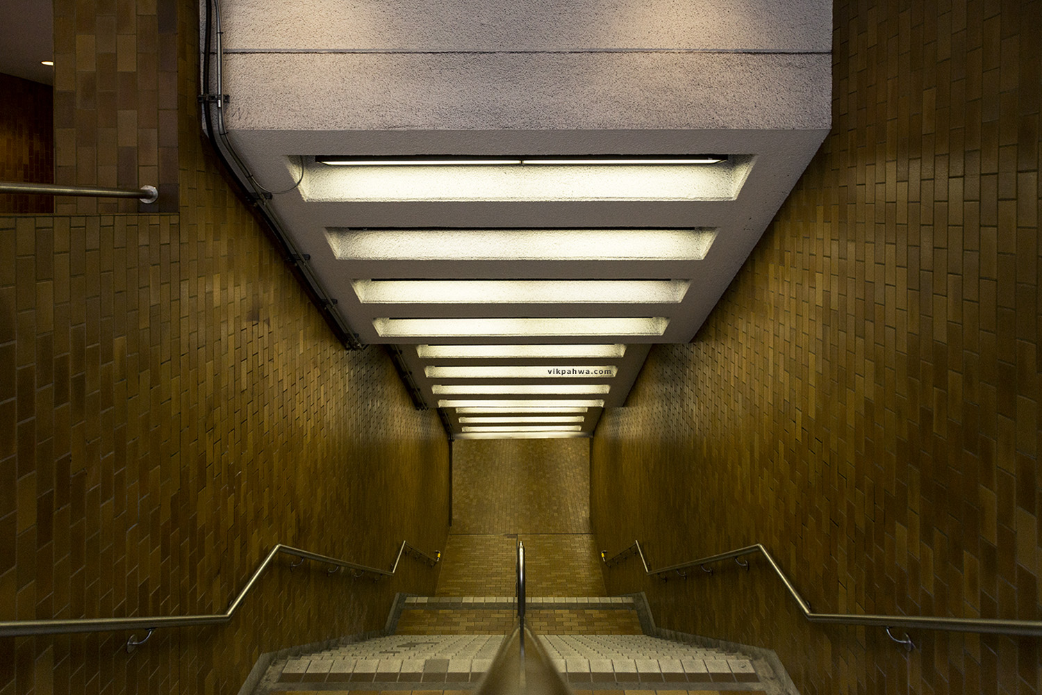 20161030. Heading in to the underground at Spadina Station.