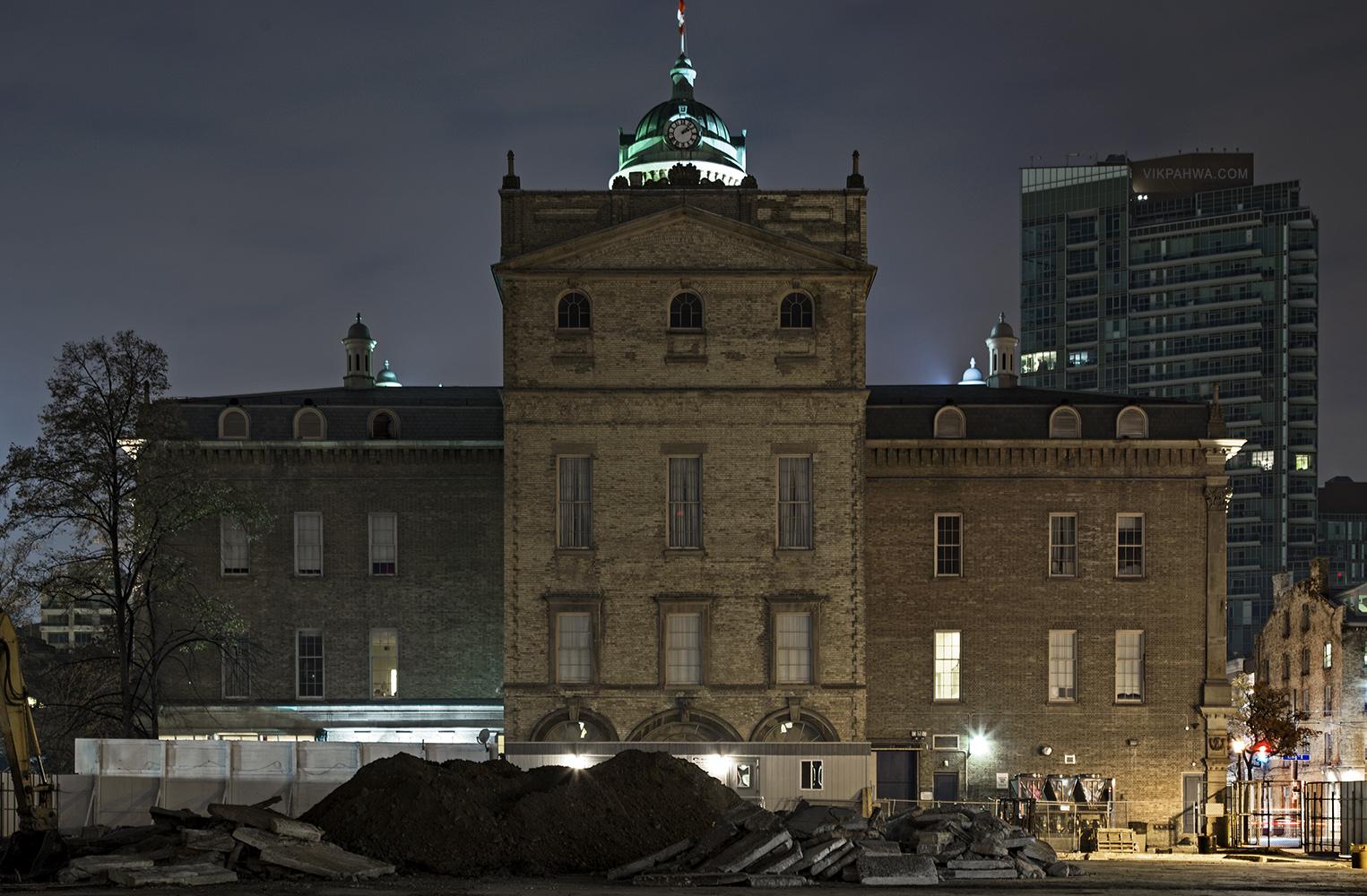 20161115. The temporary rear view of Toronto's St. Lawrence Hall