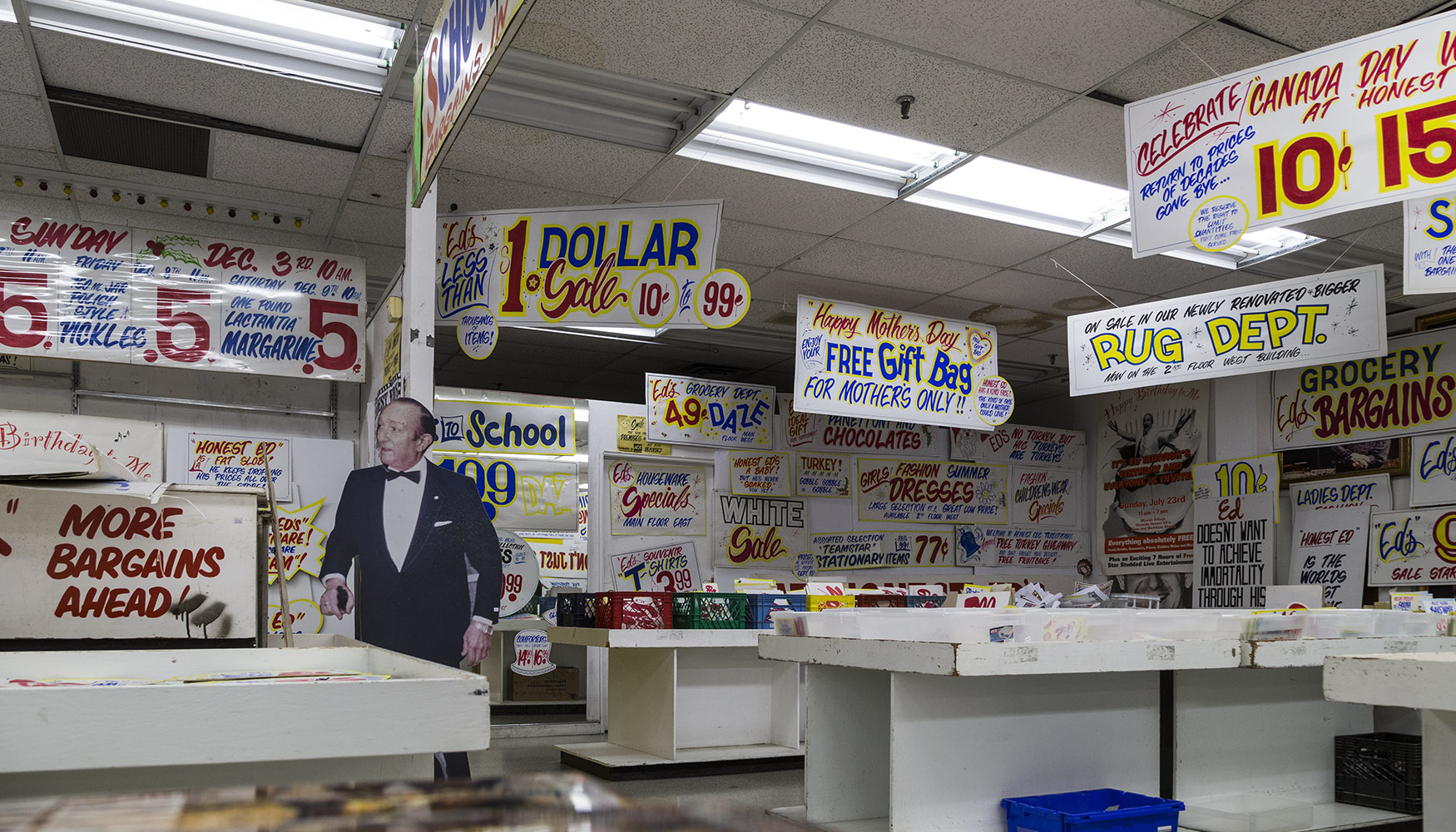 20161122. You can buy Honest Ed's signs but they are not necessa