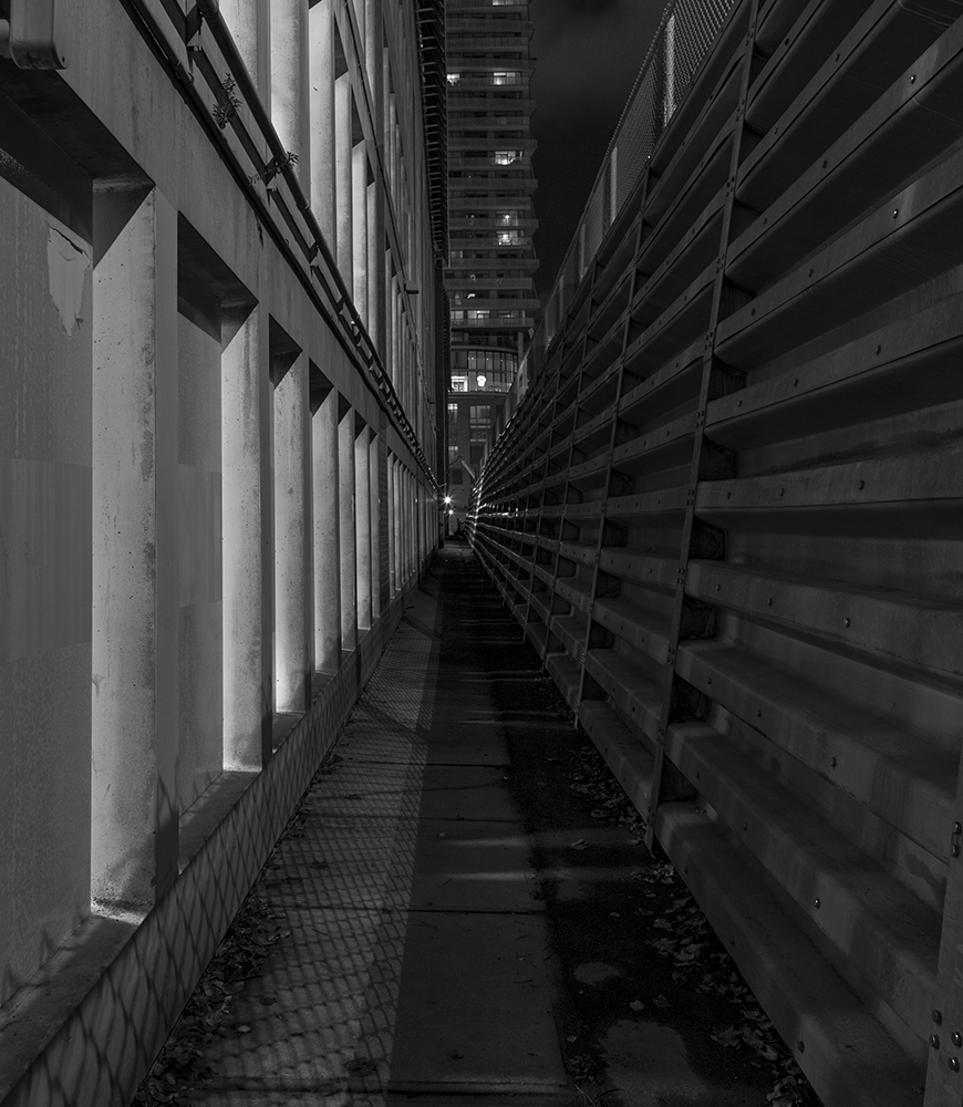 20161126. An alleyway of lines.