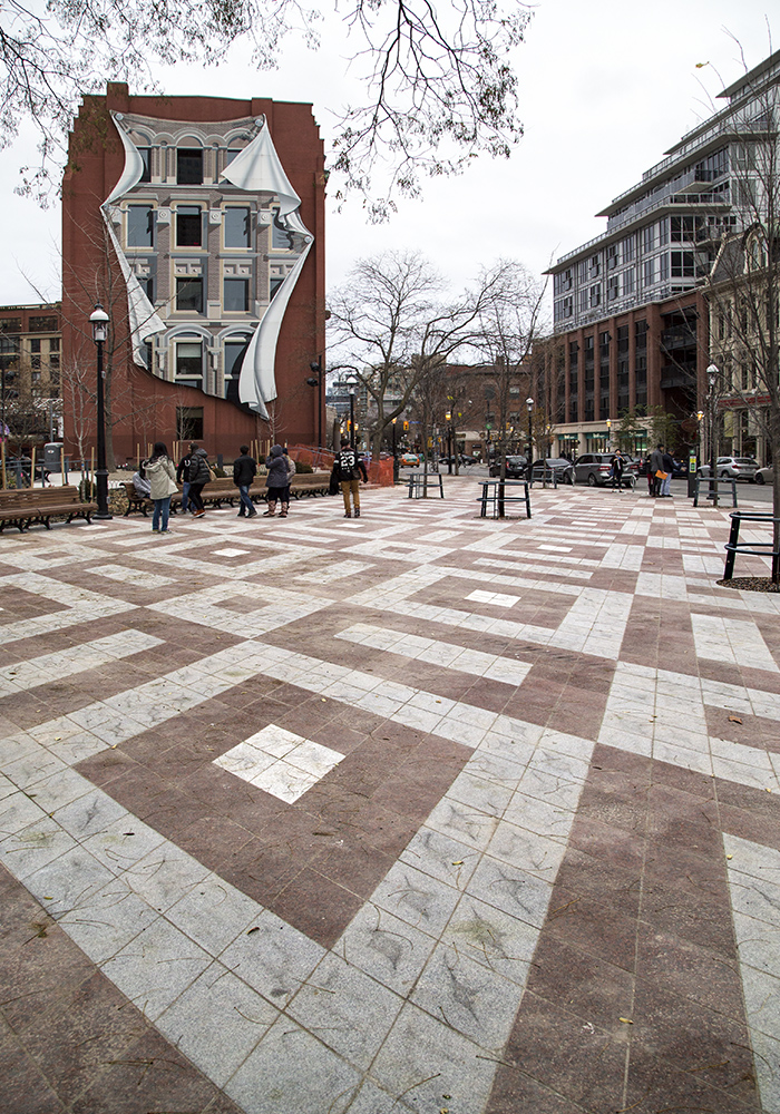 20161206. The redesigned Berczy Park, with its granite pavers in