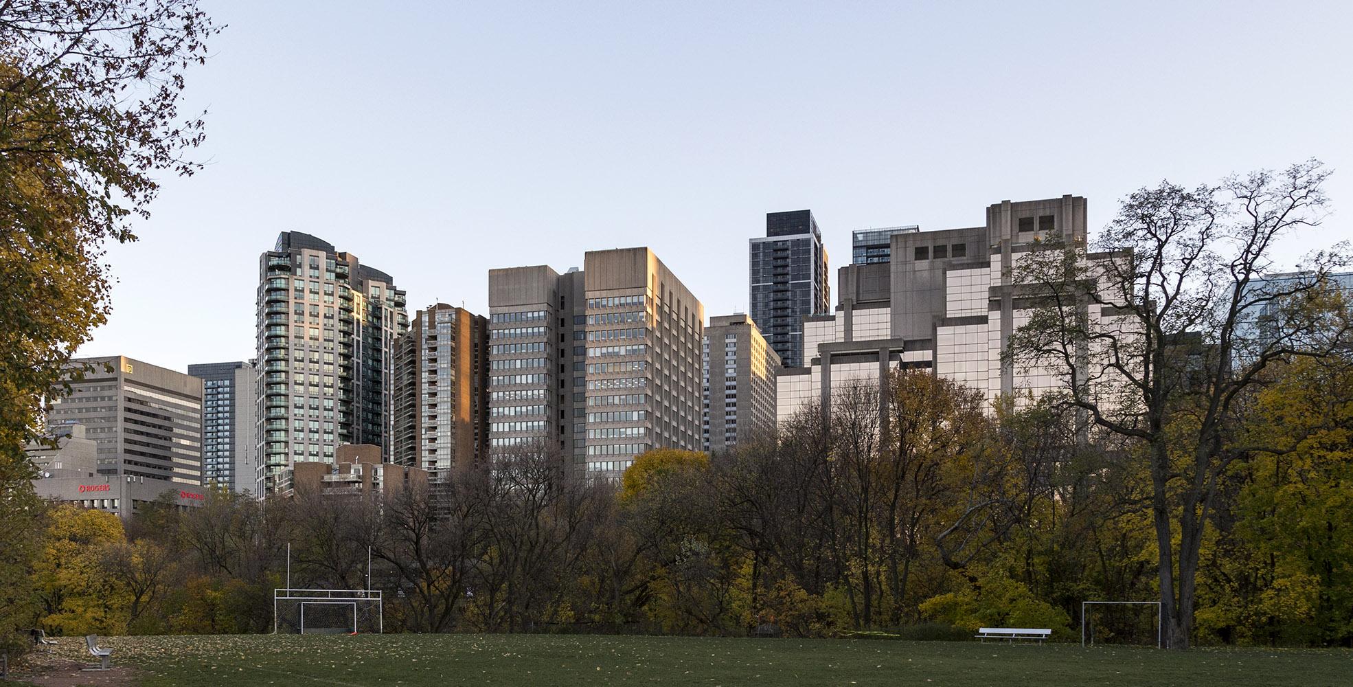 20161210. Toronto's Bloor St E skyline rises above the Rosedale