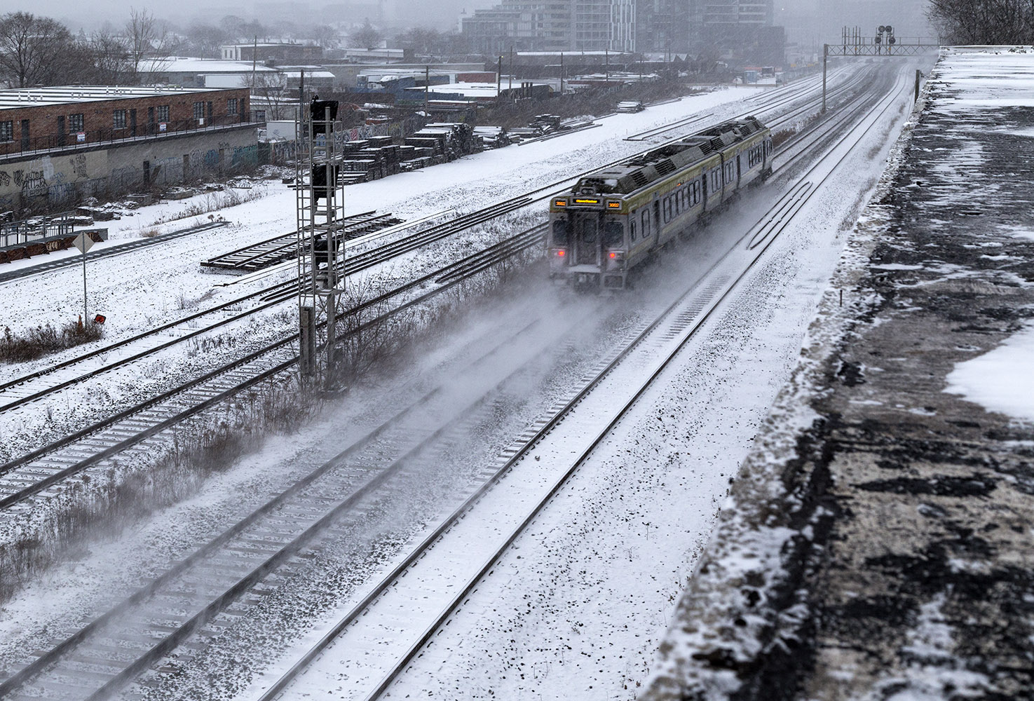 20161213. Like Snowpiercer, the Union Pearson Express flies thro