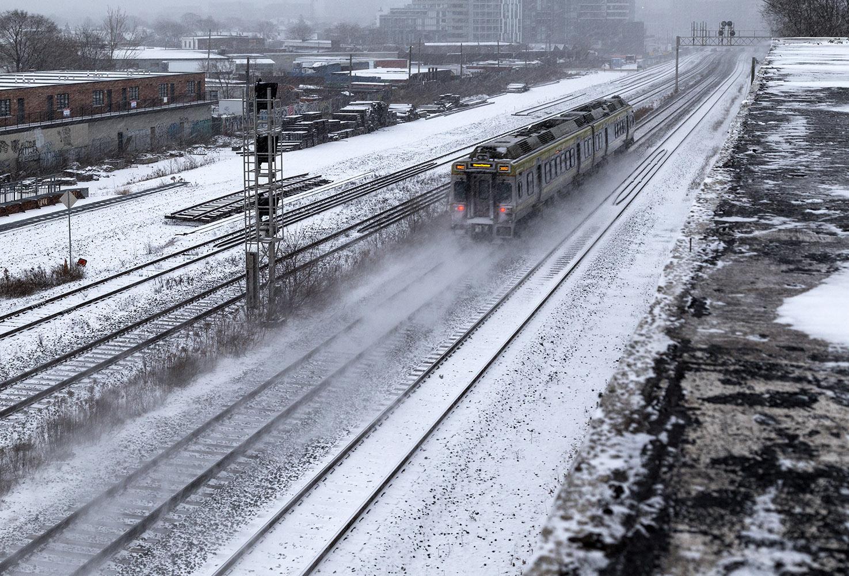 20161213. Like Snowpiercer, the Union Pearson Express flies thro