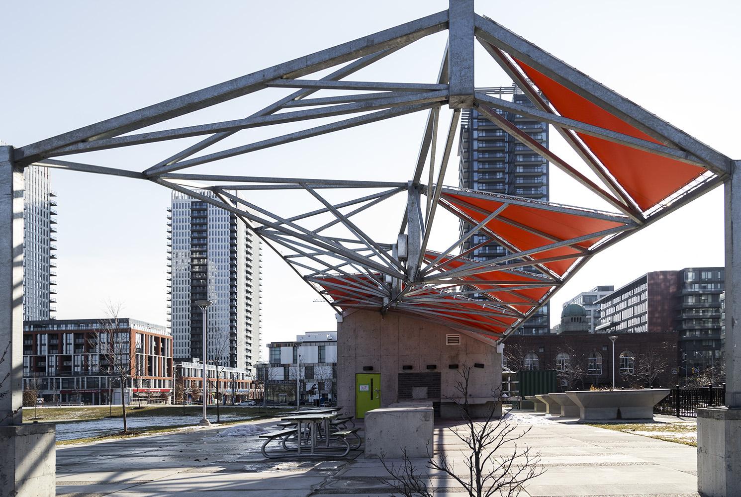 20170103. Regent Park's new park features this neat structure ho