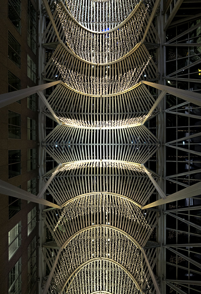 20170105. Below the metal canopy of the Allen Lambert Galleria a