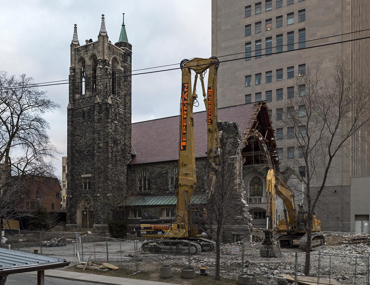 20170116. The 1912 Gothic Revival Deer Park United Church awaits