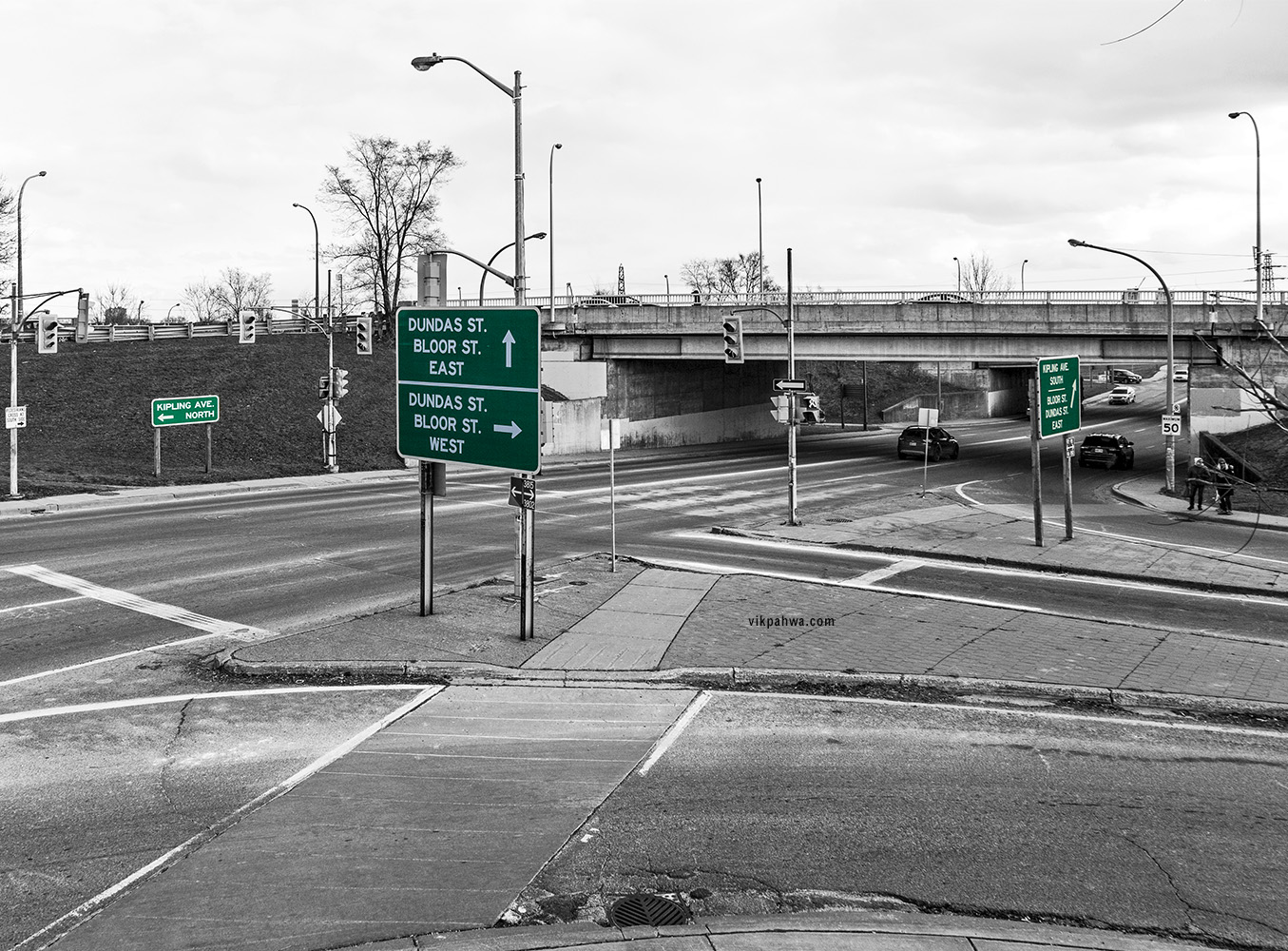 20170130. The convoluted series of ramps that is Etobicoke's Six