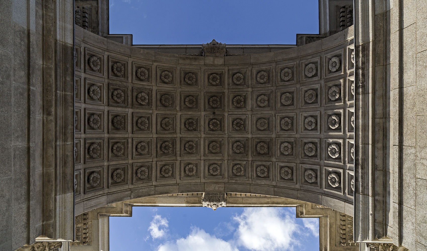 20170304. Up underneath the Princes' Gates celebrating 60 years