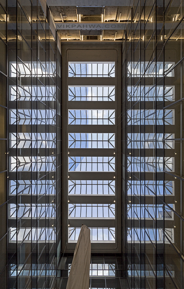 20170314. Eight section dual reflection atrium skylight.