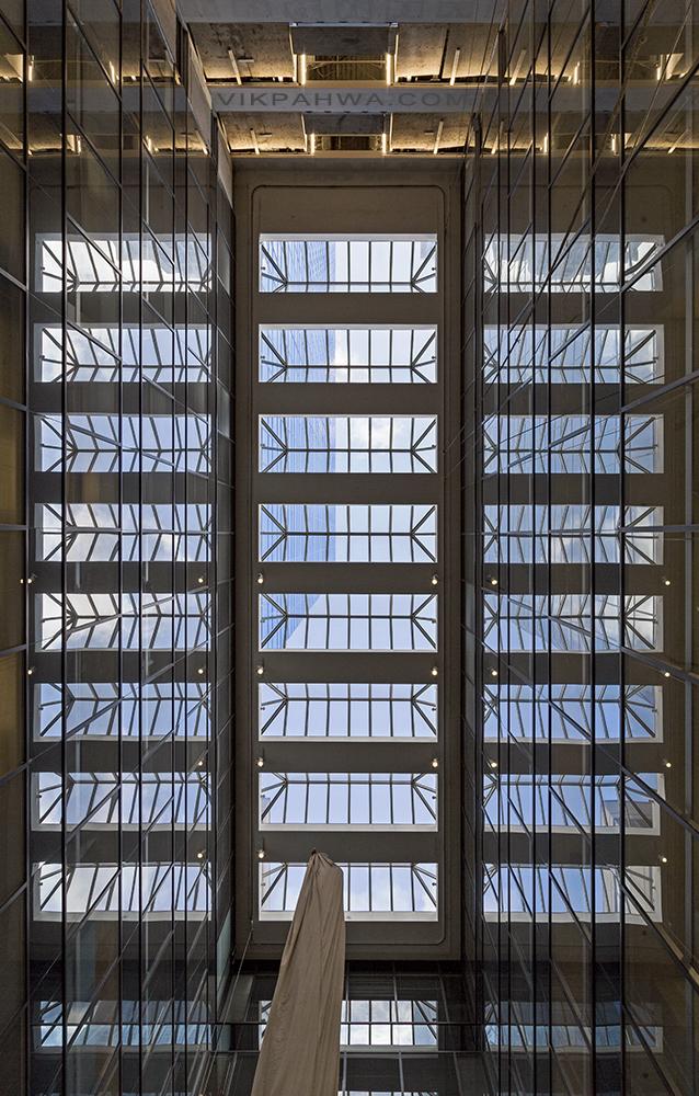 20170314. Eight section dual reflection atrium skylight.