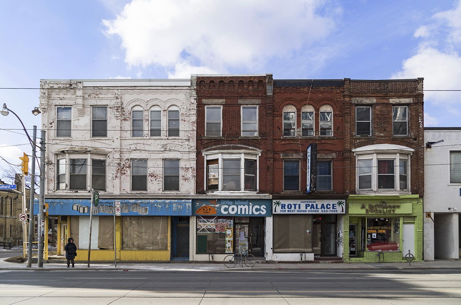 20170315. This row of buildings at 738-744 Bathurst St (at Lenno