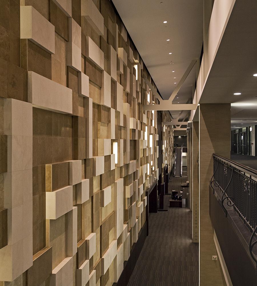 20170323. The wall cladding outside Toronto's biggest ballroom a
