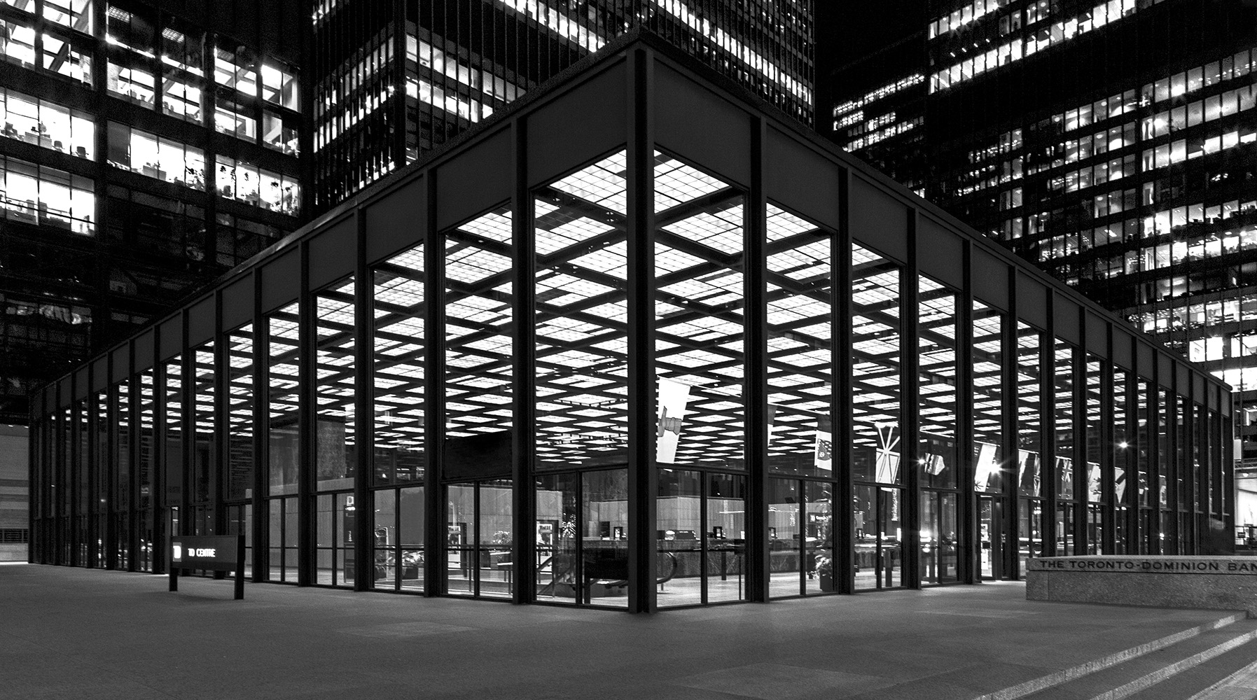 Photo 20131121. Mies van der Rohe's pavilion at the TD Centre, Toronto.