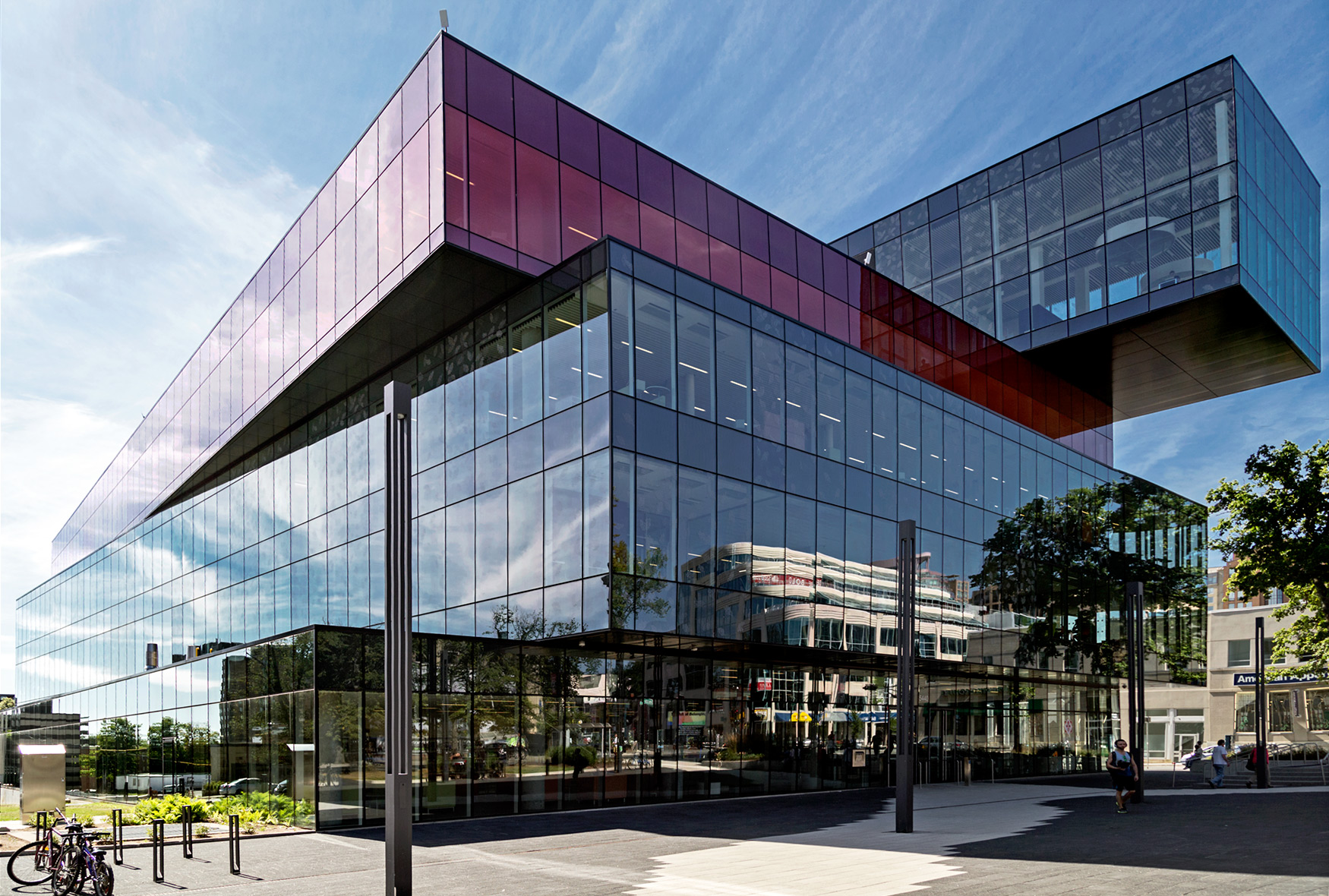 Halifax Central Library, in Halifax, Nova Scotia - designed to look like a stack of books